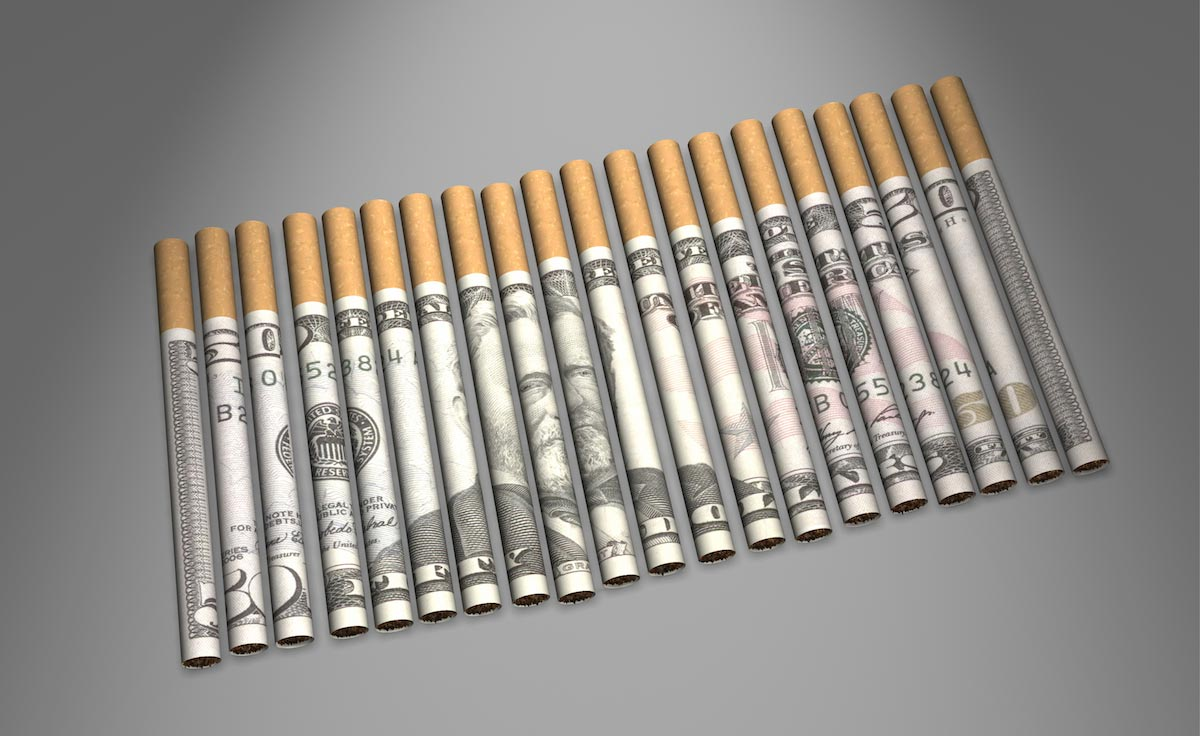 rolled money cigs