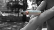 cigarette burning black white red color